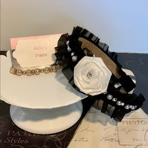 Faux Pearl and Satin flower headband